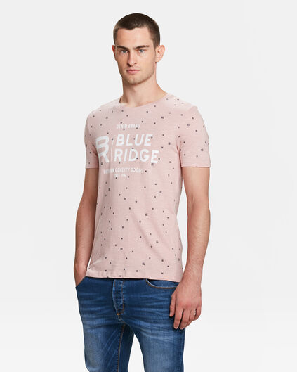 BLUE RIDGE HERREN-T-SHIRT MIT AUFDRUCK Rosa