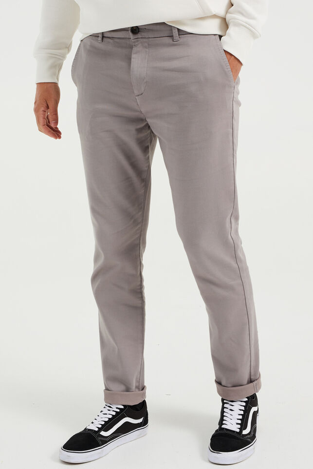 Chino slim fit homme Gris clair
