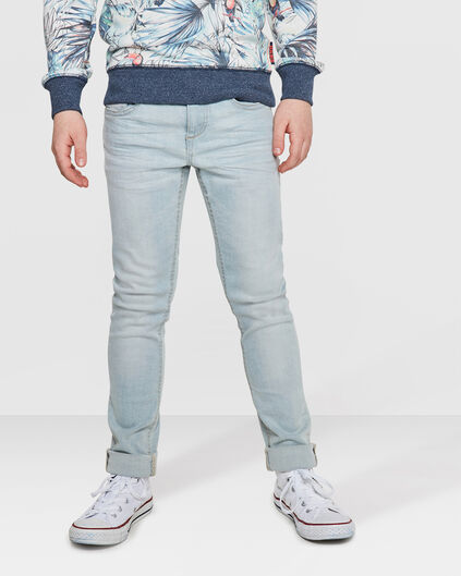 JUNGEN-SUPERSKINNY-JEANS AUS POWERSTRETCH Hellgrau