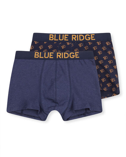 BOXER BLUE RIDGE HOMME, PACK DE 2 Bleu
