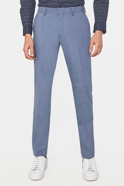 Pantalon slim fit stretch Dali homme Bleu glace