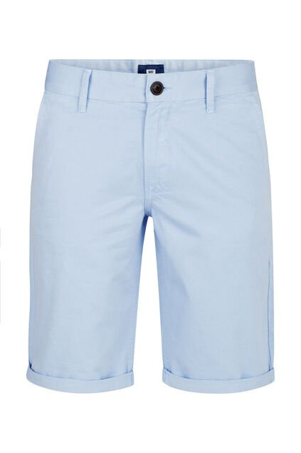 Herren-Chino-Shorts (Long Fit) Hellblau