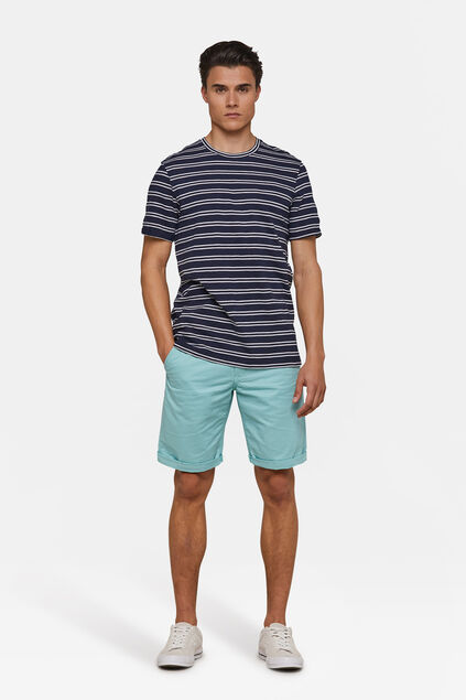 Bermuda regular fit chino homme Bleu glace