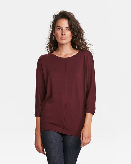 DAMENPULLOVER IN OVERSIZED-OPTIK Aubergine