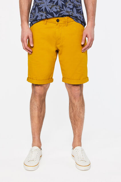 Short chino slim fit homme Jaune moutarde