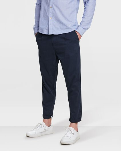 PANTALON CHINO LOOSE FIT HOMME Bleu marine