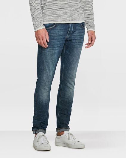 JEANS SLIM TAPERED SELVEDGE STRETCH HOMME Bleu