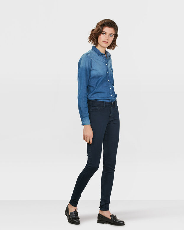 JEGGINGS MID RISE SUPER SKINNY HIGH STRETCH FEMME Indigo