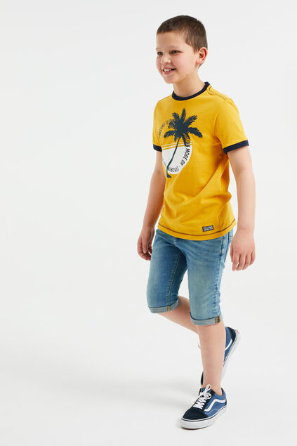 Short denim slim fit garçon Bleu