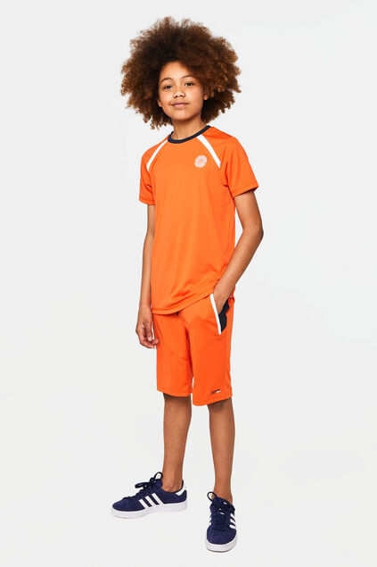 Short de sport fluo garçon Orange vif