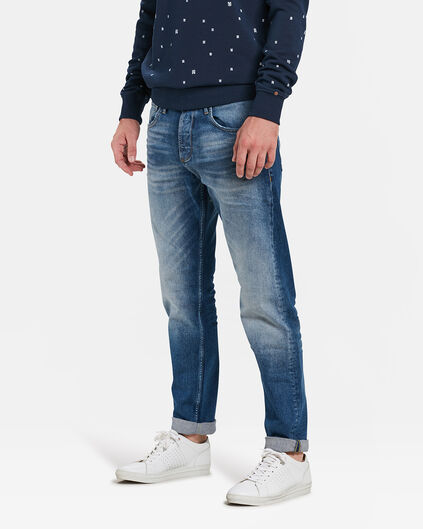 HERREN-RELAXED-FIT-JEANS AUS COMFORT-STRETCH Blau