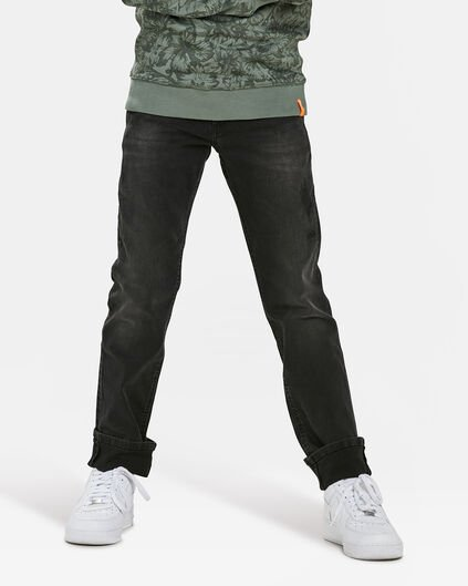 JUNGEN-REGULAR-FIT-JEANS AUS POWERSTRETCH Dunkelgrau