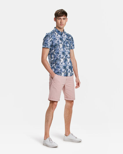 BERMUDA SLIM FIT CHINO HOMME Rose saumon