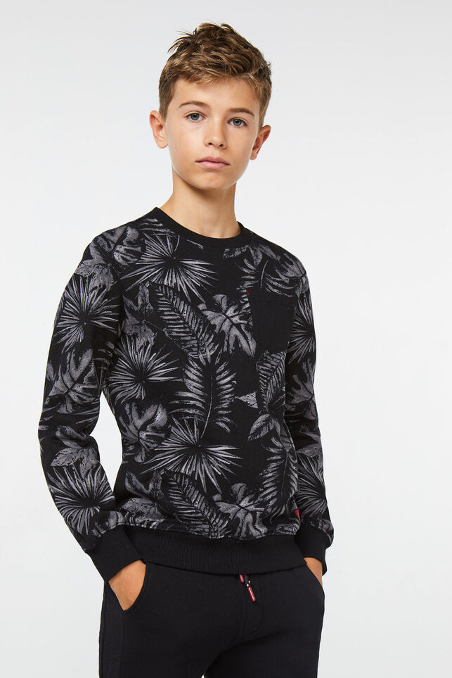 Sweat-shirt à motif jungle garçon Noir