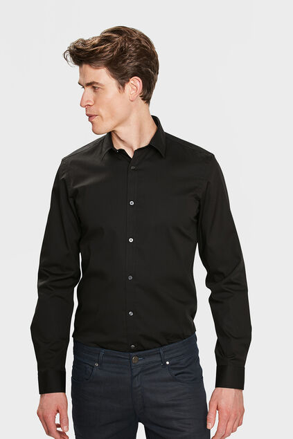 CHEMISE TALL FIT STRETCH HOMME Noir