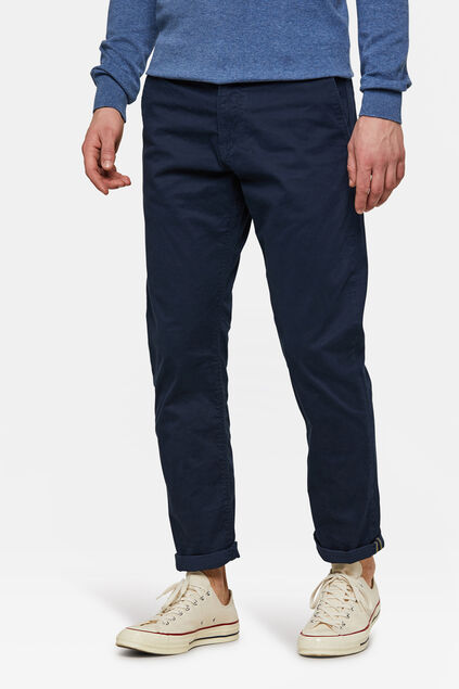 CHINO REGULAR TAPERED HOMME Bleu marine