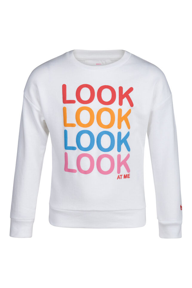 Sweat-shirt embroidery fille Blanc