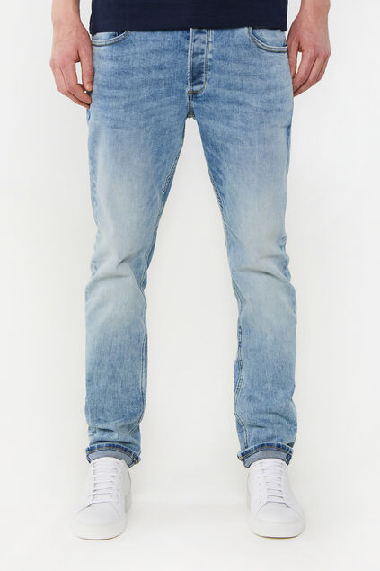 Jeans slim fit jog denim homme Bleu eclair