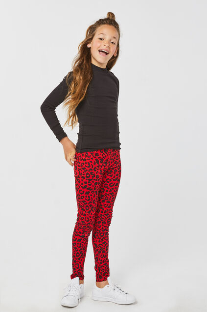 Jeggings super skinny fille Rouge