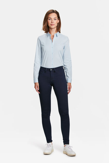JEGGINGS MID RISE SUPER SKINNY HIGH STRETCH FEMME Bleu