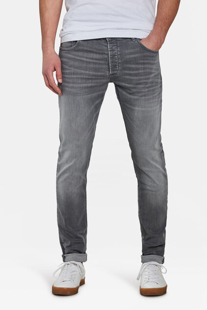 Jeans tapred skinny fit homme Gris clair