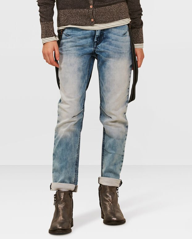 JOG DENIM BOYFRIEND FILLE Bleu