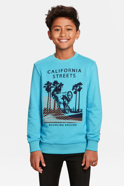 SWEAT-SHIRT CALIFORNIA STREETS GARÇON Bleu