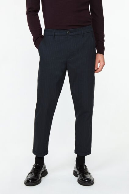 Chino loose tapered homme Bleu marine