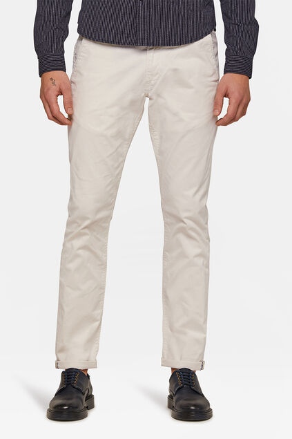 CHINO SLIM TAPERED HOMME Blanc cassé