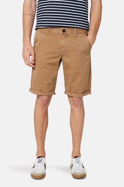 Short chino long fit homme Beige