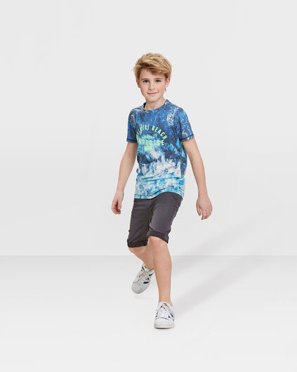 JUNGEN-JOG-DENIM-SHORTS IN GARMENT-DYE-OPTIK Dunkelgrau
