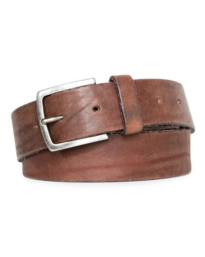 CEINTURE REAL LEATHER HOMME Cognac