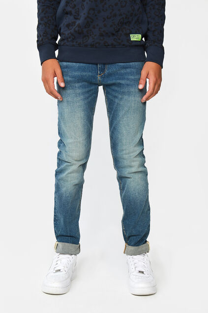 Jungen-Skinny-Fit-Jeans aus Stretch-Denim Blau