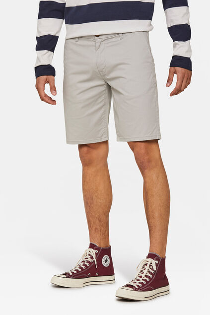 Short chino homme Gris clair