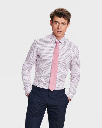 CHEMISE SLIM FIT GRAPHIC PRINT HOMME Rose
