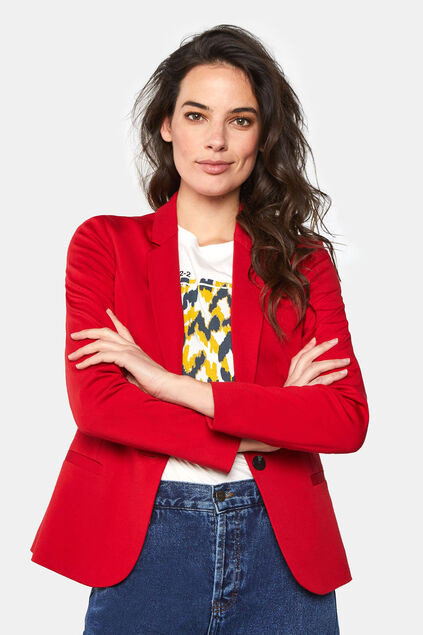 Blazer regular fit femme Rouge
