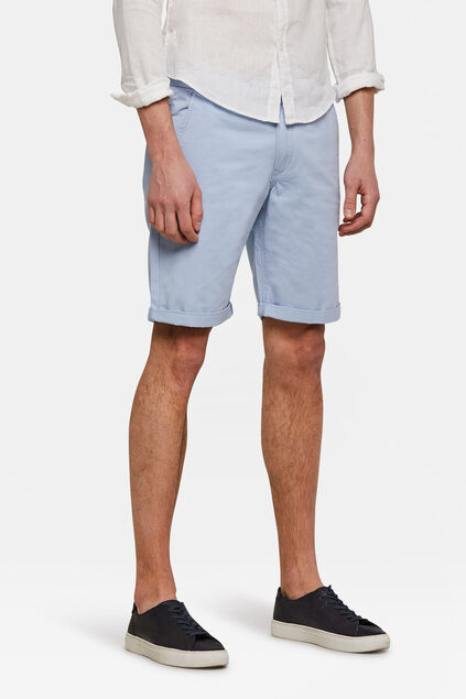 Herren-Regular-Fit-Chinoshorts Pastellblau