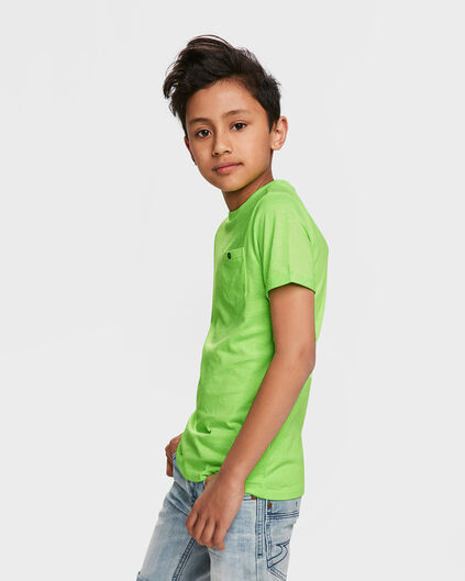 T-SHIRT ONE POCKET UNISEX KIDS Vert vif