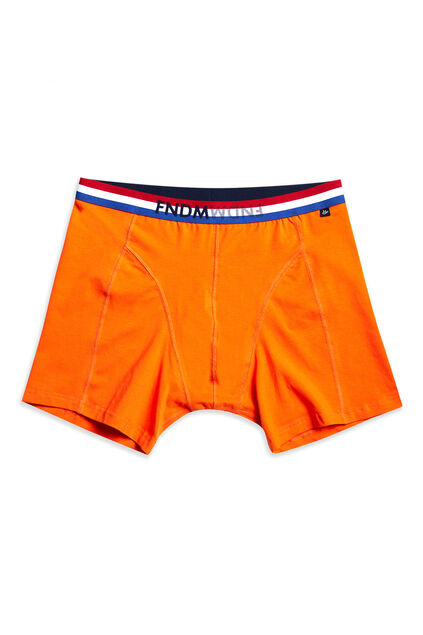 Boxer homme Orange