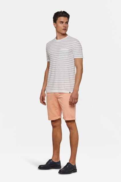 Bermuda regular fit chino homme Vieux rose