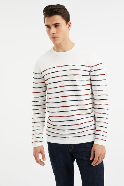 Pull à structure homme Blanc