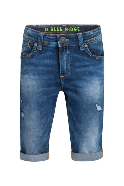 Jungen-Jog-Denim-Shorts mit Slim-Fit-Passform Dunkelblau