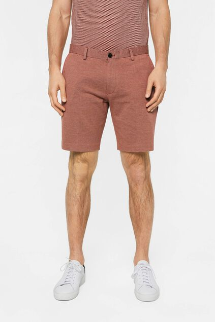 Short slim fit à motif homme Brun rouille