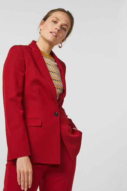 BLAZER REGULAR FIT FEMME Bordeaux