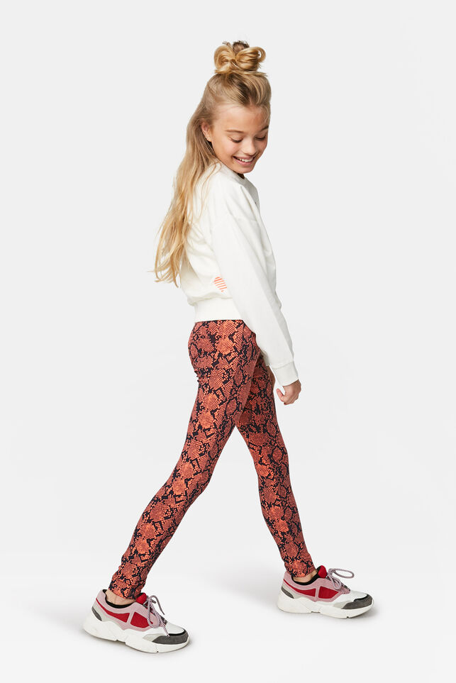 Leggings à imprimé serpents fille Orange