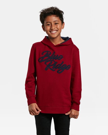 SWEAT-SHIRT A CAPUCHON BLUE RIDGE GARÇON Bordeaux