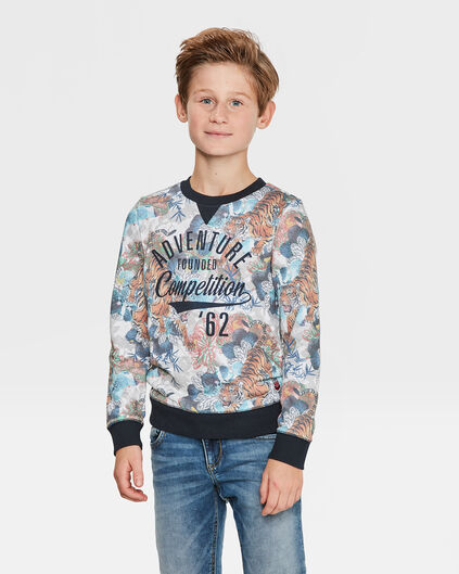 "JUNGEN-SWEATSHIRT ""ADVENTURE"" Orange"