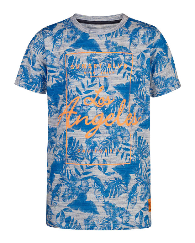 T-SHIRT JUNGLE PRINT GARÇON Bleu vif