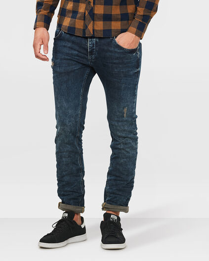 JEANS SLIM TAPERED SUPER STRETCH HOMME Indigo