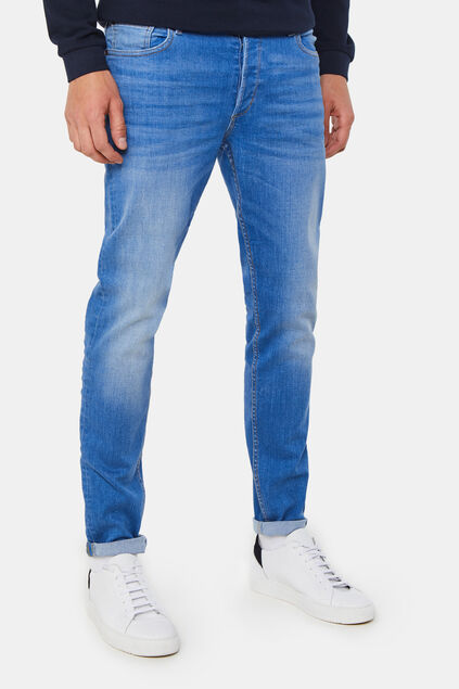 Jeans skinny super stretch homme Bleu